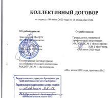 Коллективный договор МАДОУ ДС №1 «Белоснежка»