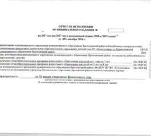 Отчет о выполнении муниципального задания за 2017 год