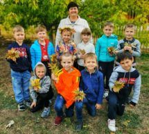 Осень подарила детям листопад